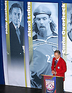 28 August 2006: 2006 Hall of Fame inductee Philip Anshutz. The National Soccer Hall of Fame Induction Ceremony was held at the National Soccer Hall of Fame in Oneonta, New York.