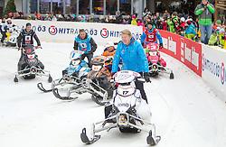 07.12.2014, Saalbach Hinterglemm, AUT, Snow Mobile, im Bild Mika Häkkinen // during the Snow Mobile Event at Saalbach Hinterglemm, Austria on 2014/12/07. EXPA Pictures © 2014, PhotoCredit: EXPA/ JFK