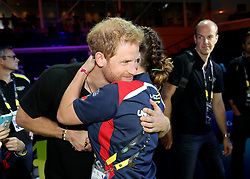 Prince Harry at the wheelchair basketball at the Mattamy Athletic Centre at the 2017 Invictus Games in Toronto, Canada.