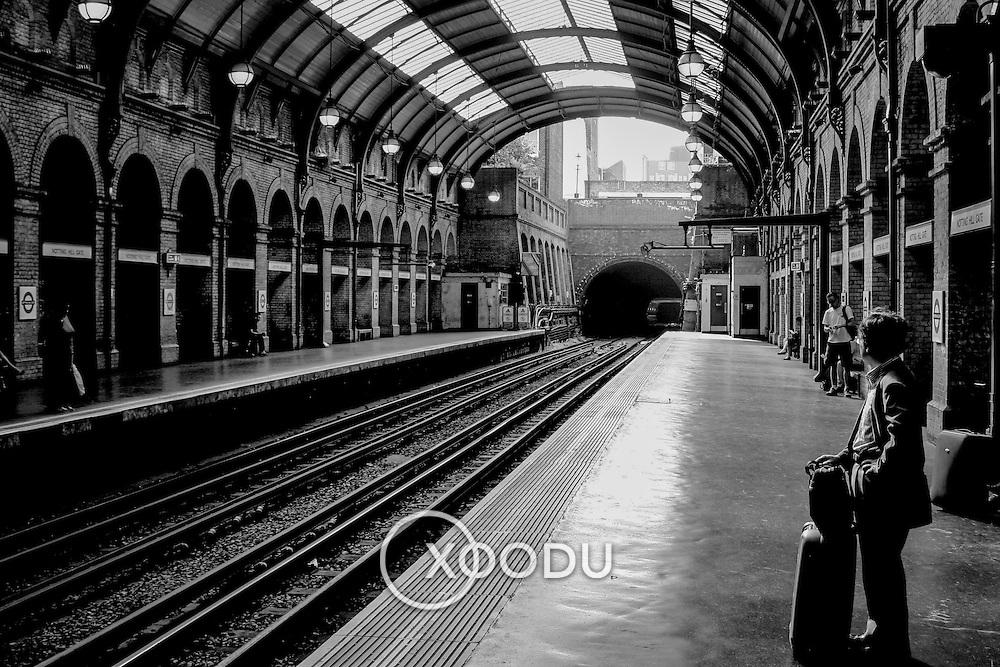 Notting Hill Gate tube station, London, England (September 2005)