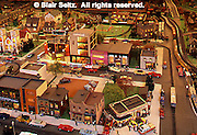 Roadside America Miniature Train Village, Mini-village, 50's (fifties) town scene, Shartlesville, Berks Co., PA