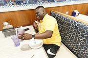 ST. LOUIS, MO June 8, 2018 - Nike Elite 100.  Rah has dinner. <br /> NOTE TO USER: Mandatory Copyright Notice: Photo by Jon Lopez / Nike
