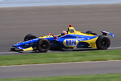 April 30, 2018 - Indianapolis, IN, U.S. - INDIANAPOLIS, IN - APRIL 30: Alexander Rossi (27) during an Open Test on April 30, 2018, at the Indianapolis Motor Speedway in Indianapolis, IN. (Photo by James Black/Icon Sportswire) (Credit Image: © James Black/Icon SMI via ZUMA Press)