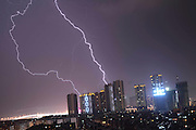 KUNMING, CHINA - JUNE 05: (CHINA OUT)<br /> <br /> Lightning Storm Appears In Kunming<br /> <br /> Lightnings strike Kunming on June 5, 2014 in Yunnan province of China. Southwest China city Kunming was hit by a brief lightning storm at 10 pm on Tuesday. <br /> ©Exclusivepix
