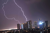 Lightning Storm Appears In Kunming