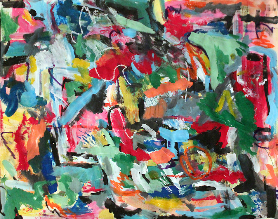 """Untitled – 24""""x18"""", Acrylic on paper, 2013"""