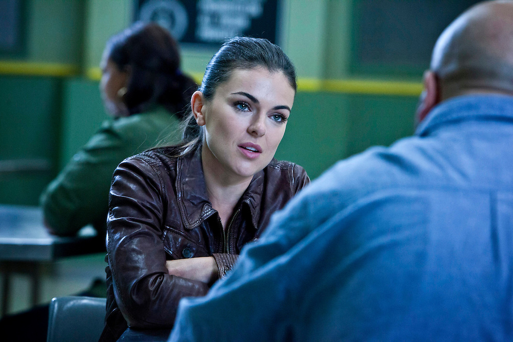 In this episode of Breakout Kings, Erica asks Arturo what Marcum did to earn such severe beatings. Photo: Skip Bolen/A&E Television Networks