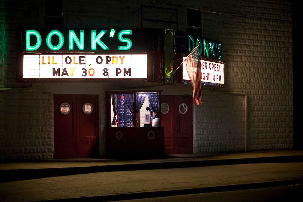 """""""Since 1975 Donk's theater in Matthews County Virginia has been featuring the 'Lil Old Opry' a live country music show featuring local acts and classic country music."""""""