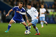 Kieran Lee of Sheffield Wednesday in action. EFL Skybet championship match, Cardiff city v Sheffield Wednesday at the Cardiff city stadium in Cardiff, South Wales on Wednesday 19th October 2016.<br /> pic by Andrew Orchard, Andrew Orchard sports photography.