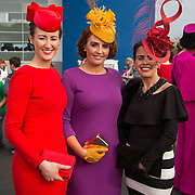 09.10.2016           <br /> Attend the Keanes Jewellers Best dressed competition at Limerick Racecourse were, Hannah Crosse, Gretta Peters and Trina Crosse. Picture: Alan Place