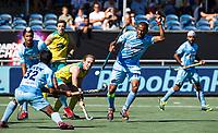 BREDA - Sunil Sowmarpet (Ind.) met Jake Harvie (Aus)   Australia-India (1-1), finale Rabobank Champions Trophy 2018. Australia wint shoot outs.  COPYRIGHT  KOEN SUYK