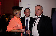 Alison Myners, Richard Sharp, ( Goldman Sachs) and Paul Myners.  Skools Rool, fundraising event  for the Royal Academy Schools.  Burlington St. London. 14 March 2005. ONE TIME USE ONLY - DO NOT ARCHIVE  © Copyright Photograph by Dafydd Jones 66 Stockwell Park Rd. London SW9 0DA Tel 020 7733 0108 www.dafjones.com