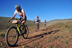 ROBERTSON, SOUTH AFRICA - MARCH 20: Dutch riders Maikel Govaarts and Erik Dekker during stage two's 110km from Robertson on March 20, 2018 in Cape Town, South Africa. Mountain bikers from across South Africa and internationally gather to compete in the 2018 ABSA Cape Epic, racing 8 days and 658km across the Western Cape with an accumulated 13 530m of climbing ascent, often referred to as the 'untamed race' the Cape Epic is said to be the toughest mountain bike event in the world. (Photo by Dino Lloyd)
