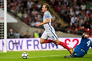 (9) Harry Kane, Slovakia (4) Lukas STETINA during the FIFA World Cup Qualifier match between England and Slovakia at Wembley Stadium, London, England on 4 September 2017. Photo by Sebastian Frej.