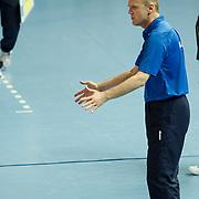 Rabita BAKU's coach Dejan BRDJOVIC (C) during their Women's Volleyball CEV Champions League semi final match at Burhan Felek Arena in Istanbul, Turkey on 20 March 2011. Photo by TURKPIX