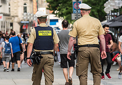 June 9, 2017 - Munich - Munich Police are now using video in the pedestrian zone of the city center to document interactions. (Credit Image: © Sachelle Babbar via ZUMA Wire)
