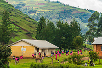A school in the mountainous region of the Kabale District of southwest Uganda.
