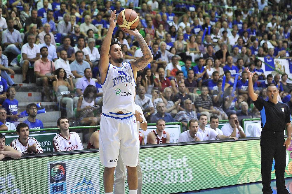 Cagliari, 21/08/2012<br /> Basket, Eurobasket 2013 Qualifying Round<br /> Italia - Turchia<br /> Nella foto: Daniel Hackett<br /> Foto Ciamillo