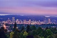 Portland Skyline from Mount Tabor Park