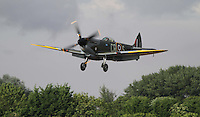 Vickers Supermarine Spitfire Mk.Vb Royal International Air Tattoo 2010 RAF Fairford, UK, 16 July 2010: For piQtured Sales contact: Ian@Piqtured.com +44(0)791 626 2580 (Picture by Richard Goldschmidt/Piqtured)
