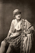 Ellen Alice Terry (1847-1928) English actress. From 1878 she had a successful 25-year professional partnership with Henry Irving. Here as Viola, a breeches role, in 'Twelfth Night' by William Shakespeare.  Photogravure c1895.
