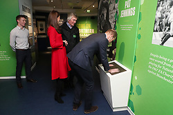 February 27, 2019 - Belfast, United Kingdom - Image licensed to i-Images Picture Agency. 27/02/2019. Belfast , Northern Ireland, United Kingdom. The Duke and Duchess of Cambridge meet former goalkeeper Pat Jennings at  the Irish Football Association at  Windsor Park in Belfast,  on the first day of their two day trip to Northern Ireland. Pic: i-Images/ Pool (Credit Image: © i-Images via ZUMA Press)