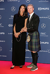 David Coulthard and his wife Karen Minier arriving to the Laureus Sports Awards 2019 ceremony at the Sporting Monte-Carlo in Monaco on February 18, 2019. Photo by Marco Piovanotto/ABACAPRESS.COM
