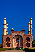 Akbar's tomb is the tomb of the Mughal emperor, Akbar and an important Mughal architectural masterpiece. It was built in 1605–1613 and is situated in 119 acres of grounds in Sikandra, a suburb of Agra, Uttar Pradesh, India.