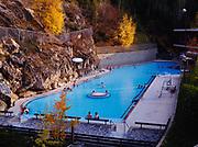 Radium Hot Springs Aquacourt, Kootenay National Park, British Columbia, Canada.