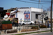 Iconic music venue The Basement East is reduced to rubble after an EF3 tornado tore through Nashville, TN on Tuesday March, 3 2020
