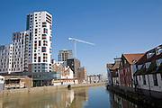 Redevelopment of Wet Dock waterside, Ipswich, Suffolk, England