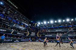 "Agatha Bednarczuk BRA, Eduarda Santos Lisboa ""Duda"" BRA in action during the last day of the beach volleyball event King of the Court at Jaarbeursplein on September 12, 2020 in Utrecht."