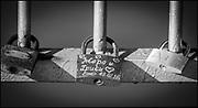 Plovdiv, Bulgaria, Wednesday,   12/09/2018,  Pad Locks, Token's, Symbols of locked Love, Suspension bridge spanning the Plovdiv Regatta Course,   2018 FISA World Rowing Championship, Plovdiv Regatta Venue, [ © Intersport Images],
