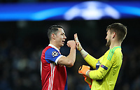 Football - 2017 / 2018 UEFA Champions League - Round of Sixteen, Second Leg: Manchester City (4) vs. FC Basel (0)<br /> <br /> Marek Suchy of FC Basel and Tomas Vaclik of FC Basel  at The Etihad.<br /> <br /> COLORSPORT