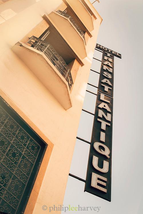 Low angle view of Hotel Transatlantique in Casablanca, Morocco