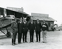 1922 Pilots at Rogers Airfield, formerly Chaplin Airdrome, at Wilshire & Fairfax Blvds.