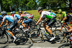 Lars Bak Ytting (DEN) of Team Dimension Data and cyclists during 2nd Stage of 26th Tour of Slovenia 2019 cycling race between Maribor and  Celje (146,3 km), on June 20, 2019 in Celje, Maribor, Slovenia. Photo by Vid Ponikvar / Sportida