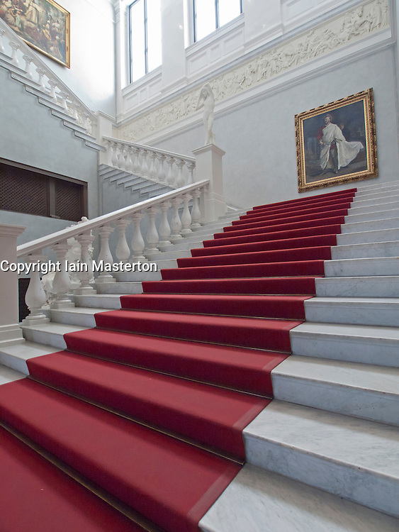 Interior of Alte Nationalgalerie on Museum Island  or Museumsinsel in Mitte Berlin Germany