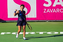 PORTOROZ, SLOVENIA - SEPTEMBER 18: Jasmine Paolini of Italy celebrates her win in the Semifinals of WTA 250 Zavarovalnica Sava Portoroz at SRC Marina, on September 18, 2021 in Portoroz / Portorose, Slovenia. Photo by Nik Moder / Sportida