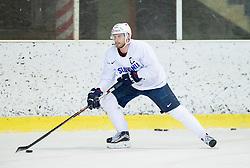 Jan Mursak during practice session of Slovenian Ice Hockey National Team at training camp, on February 8th, 2016 in Ledna dvorana, Bled, Slovenia. Photo by Vid Ponikvar / Sportida