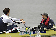 Caversham, Great Britain, Cox,  Acer NETHERCOTT, stroke Colin SMITH,  at the Redgrave Pinsent Rowing Lake. GB Rowing Training centre. Wed. 20.04.2008  [Mandatory Credit. Peter Spurrier/Intersport Images] Rowing course: GB Rowing Training Complex, Redgrave Pinsent Lake, Caversham, Reading