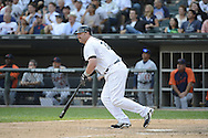 CHICAGO - SEPTEMBER 17:  Adam Dunn #32 of the Chicago White Sox bats against the Detroit Tigers on September 17, 2012 at U.S. Cellular Field in Chicago, Illinois.  The White Sox defeated the Tigers 5-4.  ((Photo by Ron Vesely)  Subject:  Adam Dunn