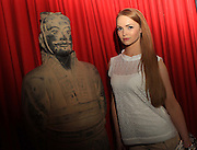 NO FEE PICTURES<br /> 3/7/14  Miss Ireland Aoife Walsh at the grand opening of Terracotta Warriors (The Terracotta army of the first Emporer of China), at the Ambassador Theatre, open from the 4th July. in Dublin.Tickets on sale from Ticketmaster and venue box office. Picture: Arthur Carron