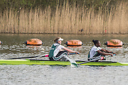 Caversham. Berkshire. UK<br /> Women's pair, Alex FLYNN and Oluwaseun OLUSANYA, competing in the  2016 GBRowing U23 Trials at the GBRowing Training base near Reading, Berkshire.<br /> <br /> Monday  11/04/2016 <br /> <br /> [Mandatory Credit; Peter SPURRIER/Intersport-images]