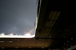 Glimpse of a rainbow over the ground as Tottenham Hotspur put on a farewell show with former and current players after the final game at White Hart Lane before it's closure for demolition and redevelopment - Rogan Thomson/JMP - 14/05/2017 - FOOTBALL - White Hart Lane - London, England - Tottenham Hotspur v Manchester United - Premier League.
