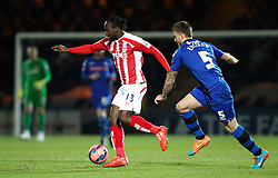 Stoke City's Victor Moses in action - Photo mandatory by-line: Matt McNulty/JMP - Mobile: 07966 386802 - 26/01/2015 - SPORT - Football - Rochdale - Spotland Stadium - Rochdale v Stoke City - FA Cup Fourth Round