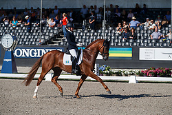 Lundholm Ida-Linn, SWE, Dragon Welt 1303<br /> Longines FEI/WBFSH World Breeding Dressage Championships for Young Horses - Ermelo 2017<br /> © Hippo Foto - Dirk Caremans<br /> 06/08/2017