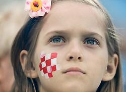 July 1, 2018 - Nizhny Novgorod, Russia - Croatia supporter during the 2018 FIFA World Cup Russia Round of 16 match between Croatia and Denmark on July 1, 2018 at Nizhny Novgorod Stadium in Nizhny Novgorod, Russia. (Credit Image: © Mike Kireev/NurPhoto via ZUMA Press)