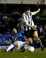 Photo: Leigh Quinnell.<br /> Birmingham City v Newcastle United. The FA Cup. 06/01/2007. Newcastles James Milner skips past Birminghams Damien Johnson.