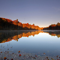 Scenic fall foliage photography images of a stunningly beautiful Rhode Island pond surrounded by autumn peak colors are available as museum quality photography prints, canvas prints, acrylic prints or metal prints. Prints may be framed and matted to the individual liking and decorating needs at<br />